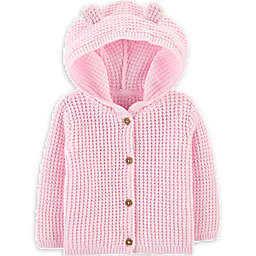 carter's® Size 3M Hooded Cardigan in Pink
