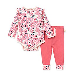 Burt's Bees Baby® 2-Piece Bold Blossom Bodysuit and Pant Set in Pink