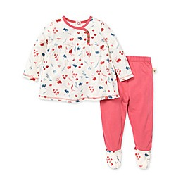 Burt's Bees Baby® 2-Piece Indigo Fields Tunic and Footed Pant Set in Floral