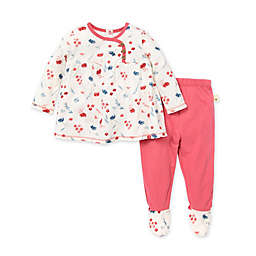 Burt's Bees Baby® Preemie 2-Piece Indigo Fields Tunic and Footed Pant Set in Floral