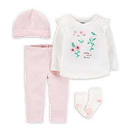 carter's® 4-Piece Floral Take-Me-Home Set