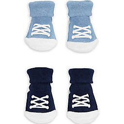 carter's® Newborn 2-Pack Sneaker Keepsake Booties in Blue/Navy