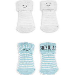 carter's® Newborn 2-Pack Cloud Keepsake Booties in Ivory