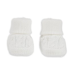 carter's® Newborn Cable Knit Bootie in White