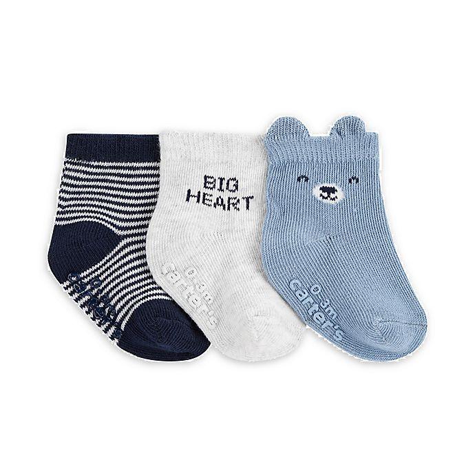Alternate image 1 for carter's® 3-Pack Little Guy Socks