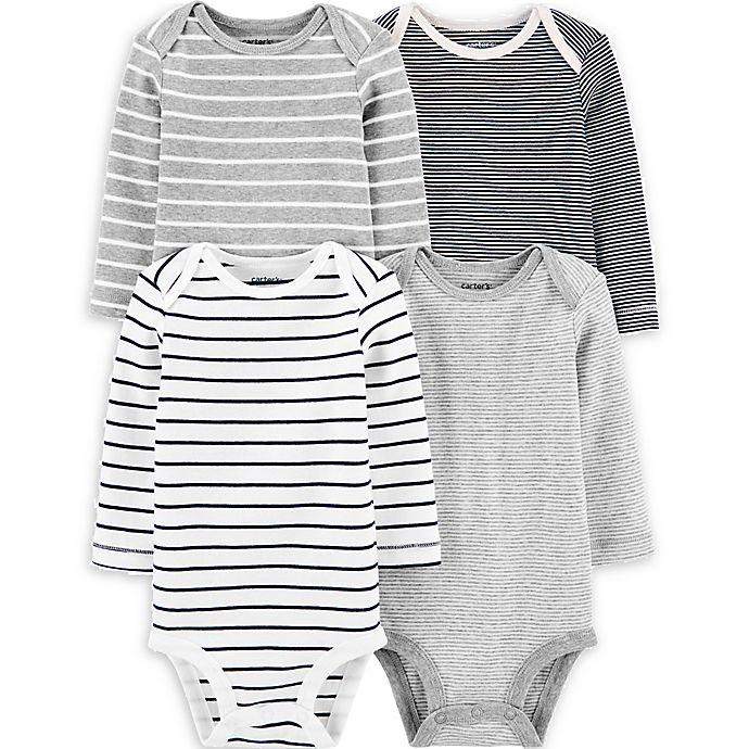 Alternate image 1 for carter's® 4-Pack Striped Original Bodysuits