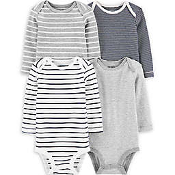 carter's® Size 3M 4-Pack Striped Original Bodysuits