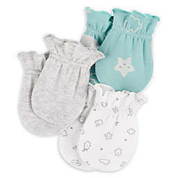 carter's® 3-Pack Clouds Mittens in White