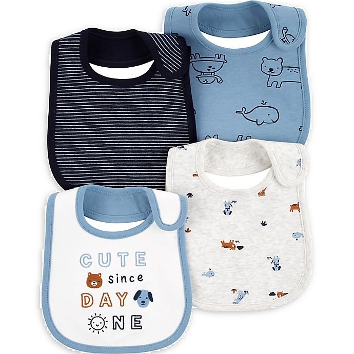 Alternate image 1 for carter's® 4-Pack Animal Bibs