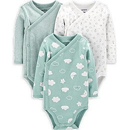 carter's® 3-Pack Cloud Side-Snap Bodysuits