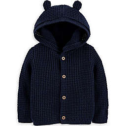carter's® Size 3M Hooded Cardigan in Navy