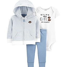carter's® Dog 3-Piece Little Jacket Set in Blue