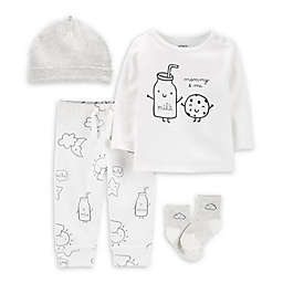 carter's® Size 3M 4-Piece Cookie Take-Me-Home Set in White