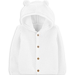 carter's® Knit Cardigan in White