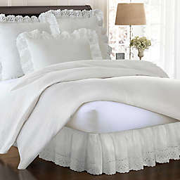 Smootheweave™ 18 Inch Drop Ruffled Eyelet Bed Skirt