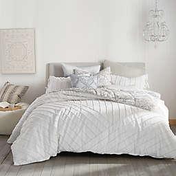Peri Home Linear Loop King Comforter Set in White