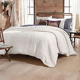 Cable Knit 3-Piece Full/Queen Comforter Set in Ivory