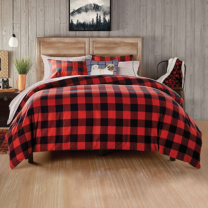 Buffalo Check Comforter Set In Red Bed Bath Beyond