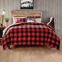 Buffalo Check 3-Piece King Comforter Set in Red