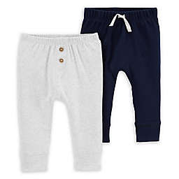 carters® 2-Pack Pull On Pants in Blue/Grey