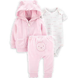 carter's® 3-Piece Sun Little Jacket, Bodysuit, and Pant Set in Pink