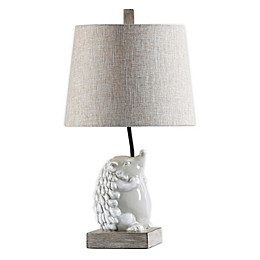 Stylecraft Happy Poly Resin Lighting Table Lamp in White