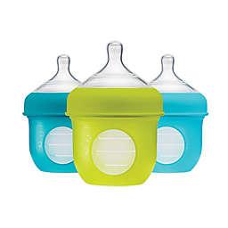 Boon NURSH™ 3-Pack 4 fl. oz. Silicone Standard-Neck Pouch Bottles in Blue