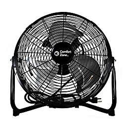 Comfort Zone CZHV12B 12-Inch 3-Speed Floor Fan in Black