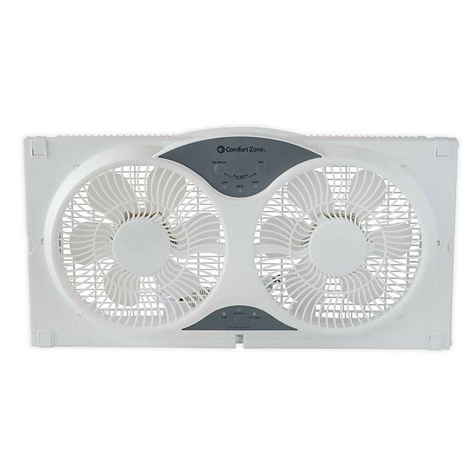 Alternate image 1 for Comfort Zone® CZ310R Reversible Twin Window Fan in White