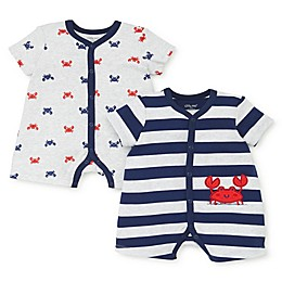 Little Me® 2-Pack Crab Rompers in Navy/Red/White