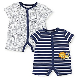 Little Me® 2-Pack Lion Rompers in Navy
