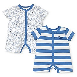 Little Me® 2-Pack Puppy Rompers in Blue