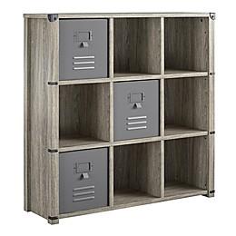 Little Seeds™ Nova 9-Cube Storage Bookcase in Grey Oak