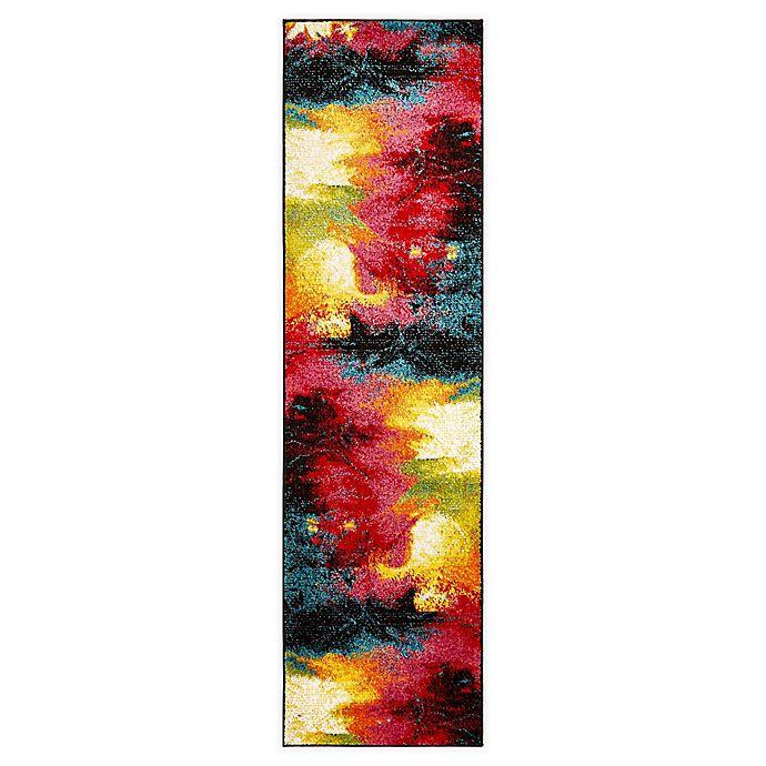Alternate image 1 for Home Dynamix Splash Mondrian 2' x 7' Runner in Black/Pink