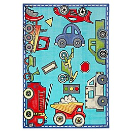 Home Dynamix Playground Cars and Trucks Area Rug