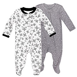 The Honest Company® 2-Pack Skulls Organic Cotton Sleep & Play Footies