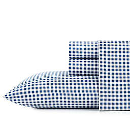 Gingham Plaid Navy Twin XL Sheet Set