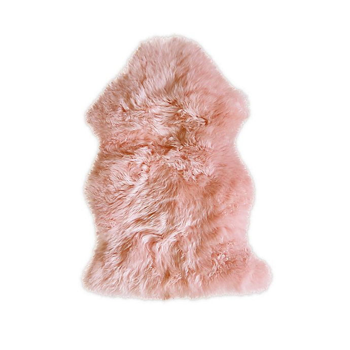 Alternate image 1 for Natural 100% New Zealand Sheepskin Accent Rug
