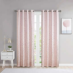Intelligent Design Zoey 84-Inch Grommet Blackout Window Curtain Panel in Blush/Rose Gold