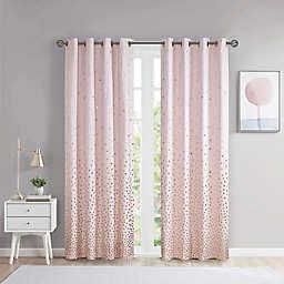 Intelligent Design Zoey 84-Inch Grommet Blackout Window Curtain Panel in Blush/Rose Gold (Single)