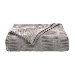 Kenneth Cole New York® Essentials Waffle Grid Twin Blanket in Grey