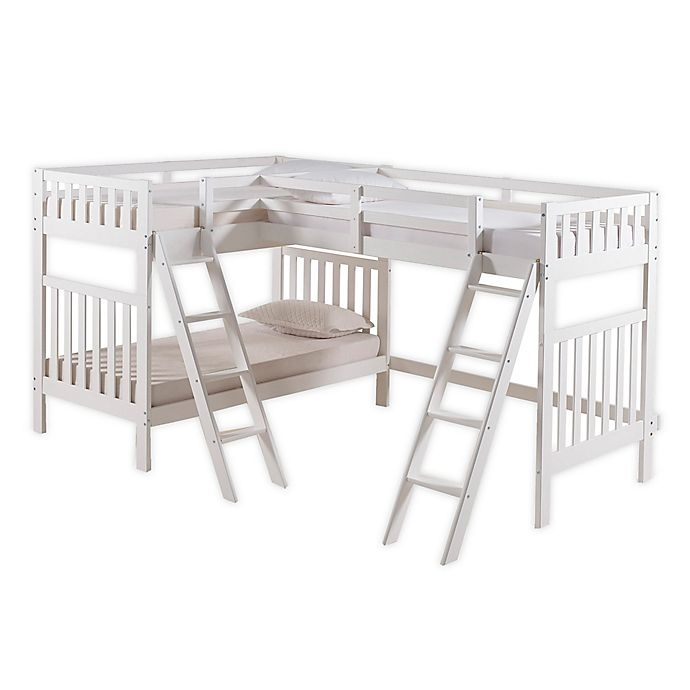 Alternate image 1 for Aurora Triple Twin Bunk Bed in White