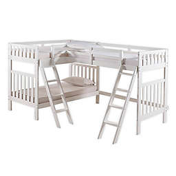 Aurora Triple Twin Bunk Bed in White