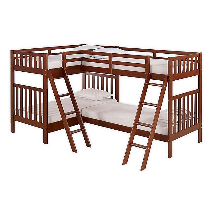 Alternate image 1 for Aurora Quad Twin Bunk Bed in Chestnut