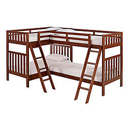 Aurora Quad Twin Bunk Bed in Chestnut