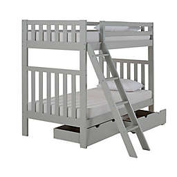 Aurora Twin Bunk Bed with Storage in Grey