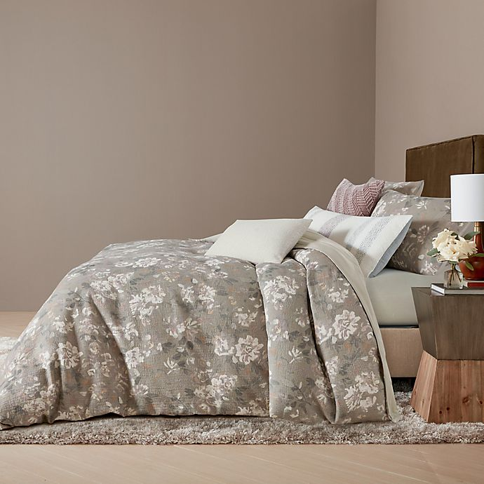 Alternate image 1 for O&O by Olivia & Oliver™ Ambrogio 3-Piece King Duvet Cover Mini in Natural