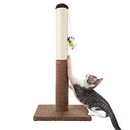 PETMAKER Sisal Scratching Post in White/Brown