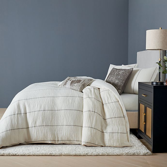 Alternate image 1 for O&O by Olivia & Oliver™ Contina 3-Piece Full/Queen Duvet Cover Set in Ivory