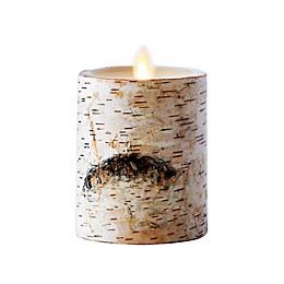Luminara® Birch Real-Flame Effect Pillar Candle